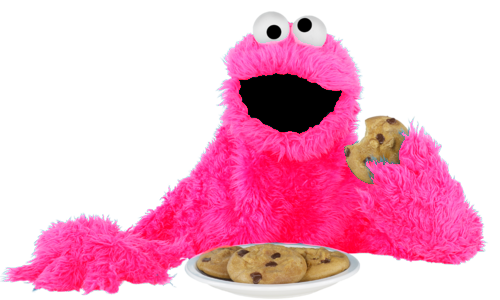 cookie monster pink